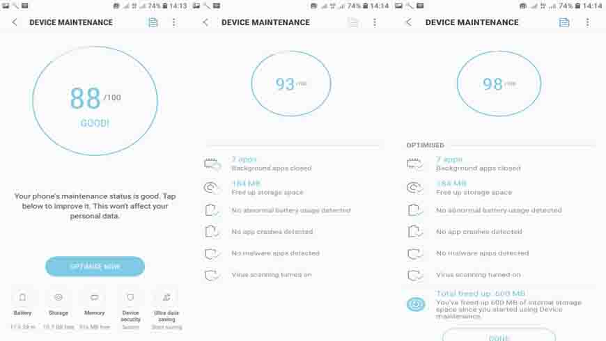 Android P device maintenance