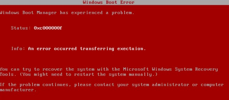 Red screen of death, RSOD